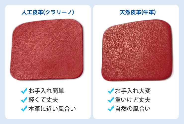 人工皮革と天然皮革